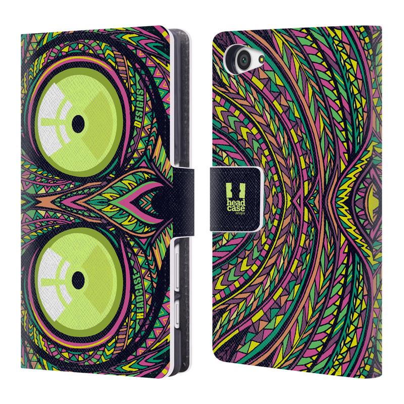 Flipové pouzdro na mobil Sony Xperia Z5 Compact HEAD CASE Aztec nártoun (Flipový vyklápěcí kryt či obal z umělé kůže na mobilní telefon Sony Xperia Z5 Compact E5823)
