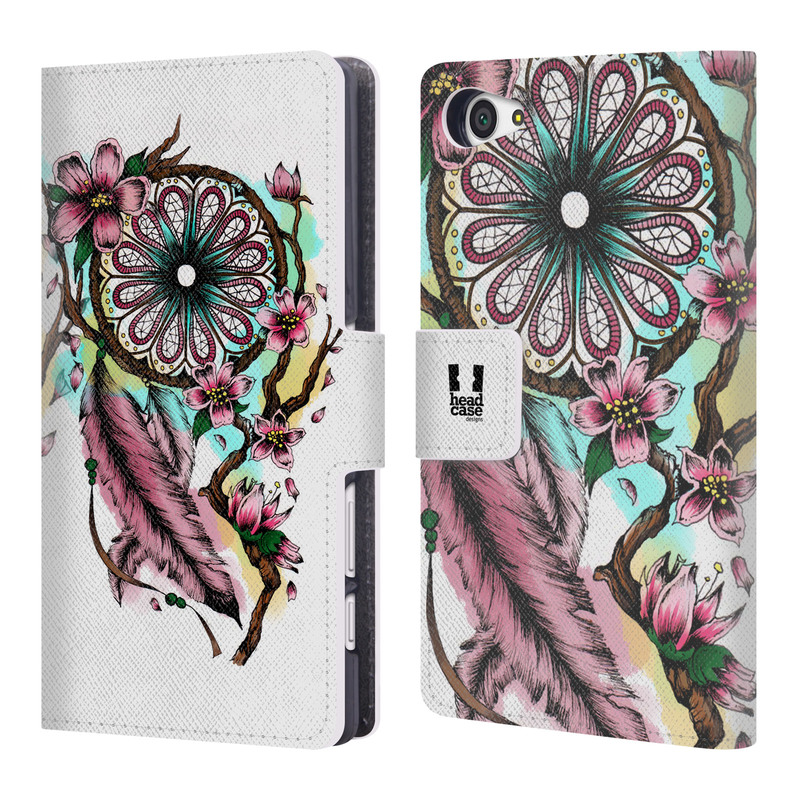 Flipové pouzdro na mobil Sony Xperia Z5 Compact HEAD CASE Bloom blossoms (Flipový vyklápěcí kryt či obal z umělé kůže na mobilní telefon Sony Xperia Z5 Compact E5823)