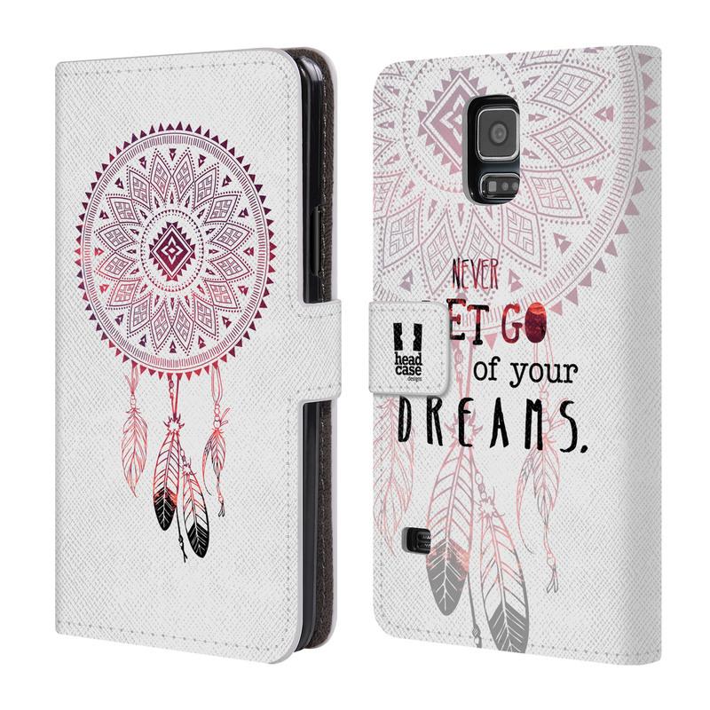 Flipové pouzdro na mobil Samsung Galaxy S5 HEAD CASE Never dreams (Flipový vyklápěcí kryt či obal z umělé kůže na mobilní telefon Samsung Galaxy S5 SM-G900)