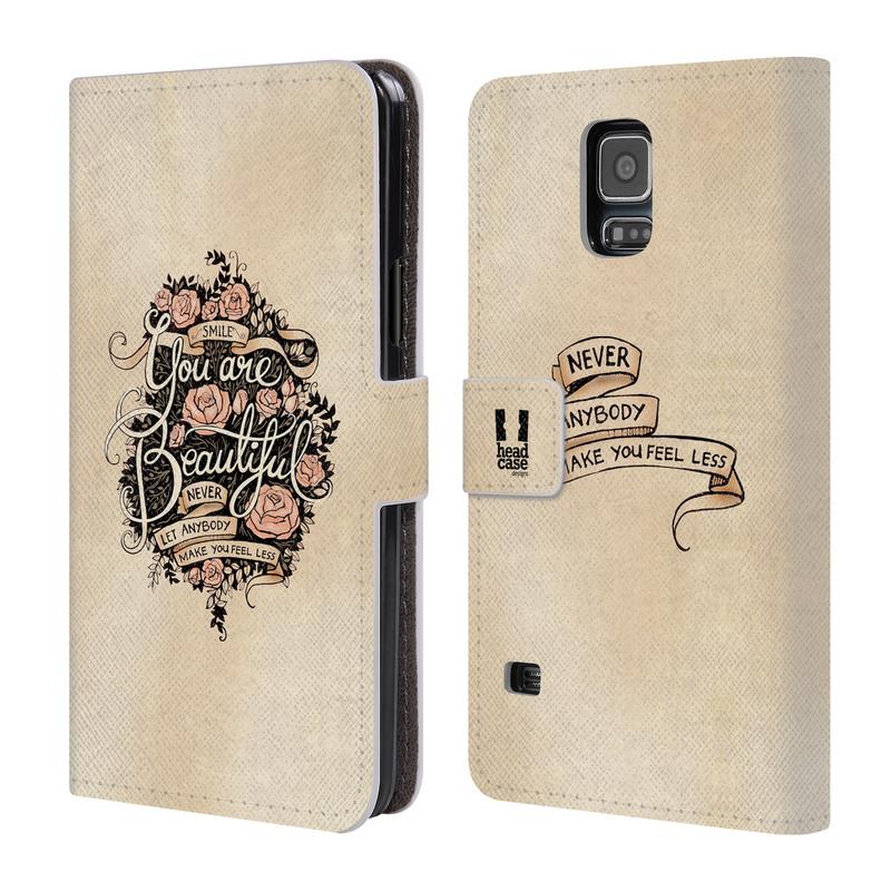 Flipové pouzdro na mobil Samsung Galaxy S5 HEAD CASE Beautiful (Flipový vyklápěcí kryt či obal z umělé kůže na mobilní telefon Samsung Galaxy S5 SM-G900)