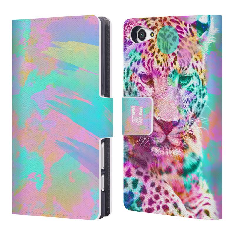 Flipové pouzdro na mobil Sony Xperia Z5 Compact HEAD CASE Mix Leopard (Flipový vyklápěcí kryt či obal z umělé kůže na mobilní telefon Sony Xperia Z5 Compact E5823)