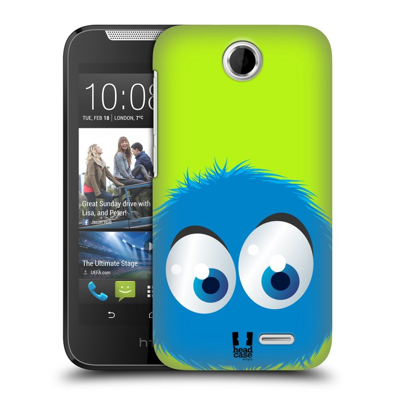 Plastové pouzdro na mobil HTC Desire 310 HEAD CASE FUZÍK MODRÝ (Kryt či obal na mobilní telefon HTC Desire 310)