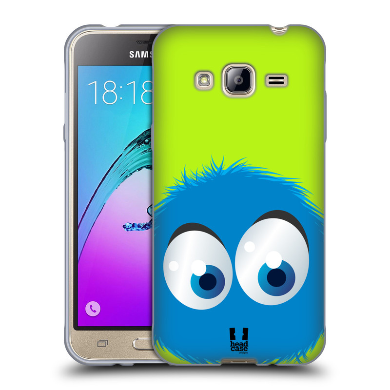 Silikonové pouzdro na mobil Samsung Galaxy J3 (2016) HEAD CASE FUZÍK MODRÝ (Silikonový kryt či obal na mobilní telefon Samsung Galaxy J3 (2016) SM-J320F / Duos - Dual SIM SM-J320DS)