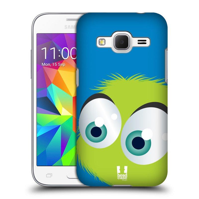 Plastové pouzdro na mobil Samsung Galaxy Core Prime LTE HEAD CASE FUZÍK ZELENÝ (Kryt či obal na mobilní telefon Samsung Galaxy Core Prime LTE SM-G360)