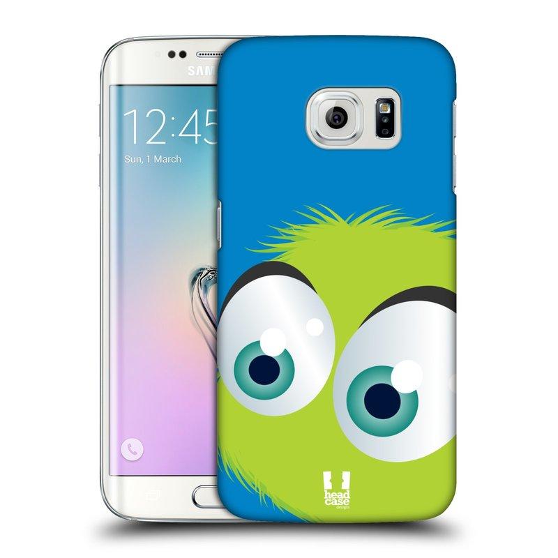 Plastové pouzdro na mobil Samsung Galaxy S6 Edge HEAD CASE FUZÍK ZELENÝ (Kryt či obal na mobilní telefon Samsung Galaxy S6 Edge SM-G925F)