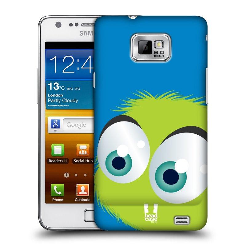 Plastové pouzdro na mobil Samsung Galaxy S II HEAD CASE FUZÍK ZELENÝ (Kryt či obal na mobilní telefon Samsung Galaxy S II GT-i9100)