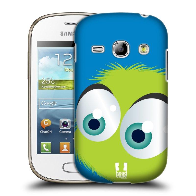 Plastové pouzdro na mobil Samsung Galaxy Fame HEAD CASE FUZÍK ZELENÝ (Kryt či obal na mobilní telefon Samsung Galaxy Fame GT-S6810)