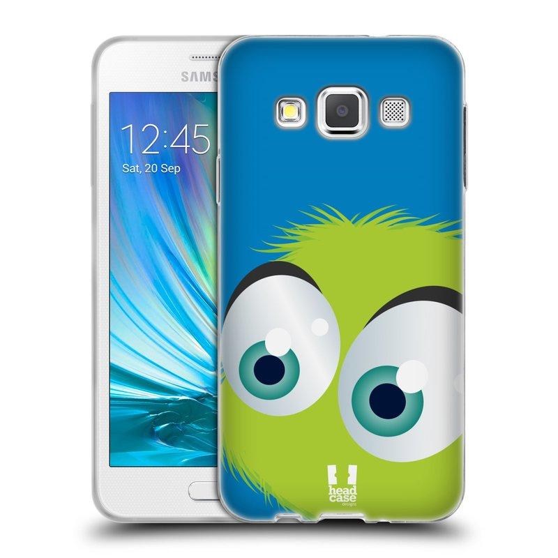Silikonové pouzdro na mobil Samsung Galaxy A3 HEAD CASE FUZÍK ZELENÝ (Silikonový kryt či obal na mobilní telefon Samsung Galaxy A3 SM-A300)