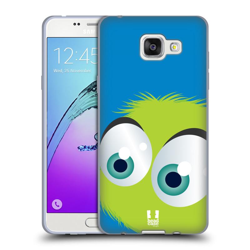 Silikonové pouzdro na mobil Samsung Galaxy A5 (2016) HEAD CASE FUZÍK ZELENÝ (Silikonový kryt či obal na mobilní telefon Samsung Galaxy A5 (2016) SM-A510F)