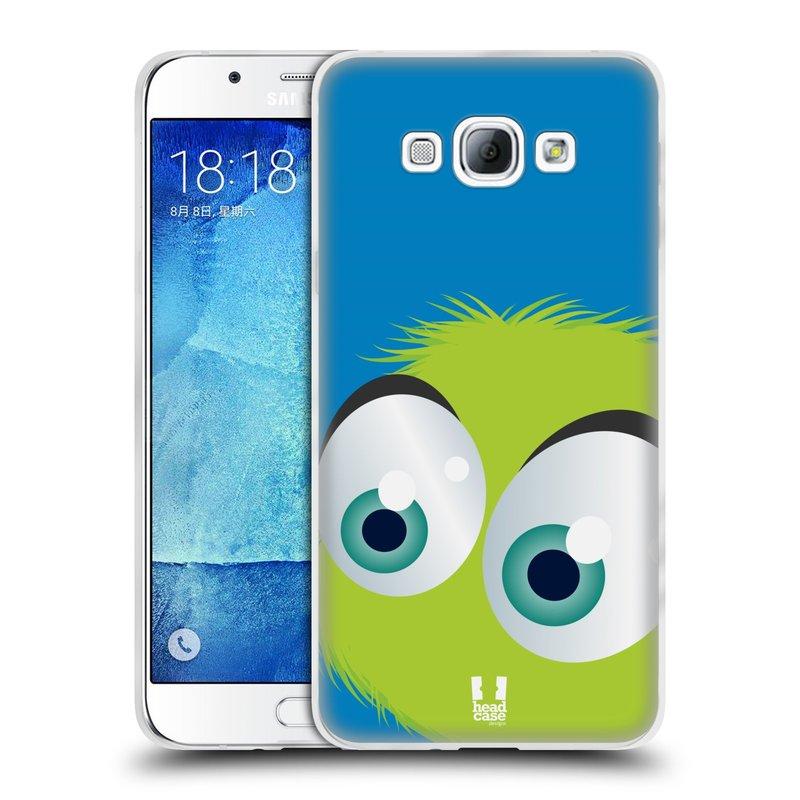 Silikonové pouzdro na mobil Samsung Galaxy A8 HEAD CASE FUZÍK ZELENÝ (Silikonový kryt či obal na mobilní telefon Samsung Galaxy A8 SM-A800)