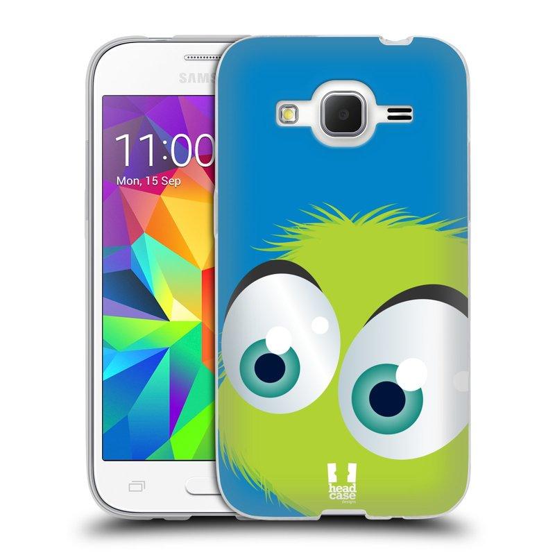 Silikonové pouzdro na mobil Samsung Galaxy Core Prime LTE HEAD CASE FUZÍK ZELENÝ (Silikonový kryt či obal na mobilní telefon Samsung Galaxy Core Prime LTE SM-G360)