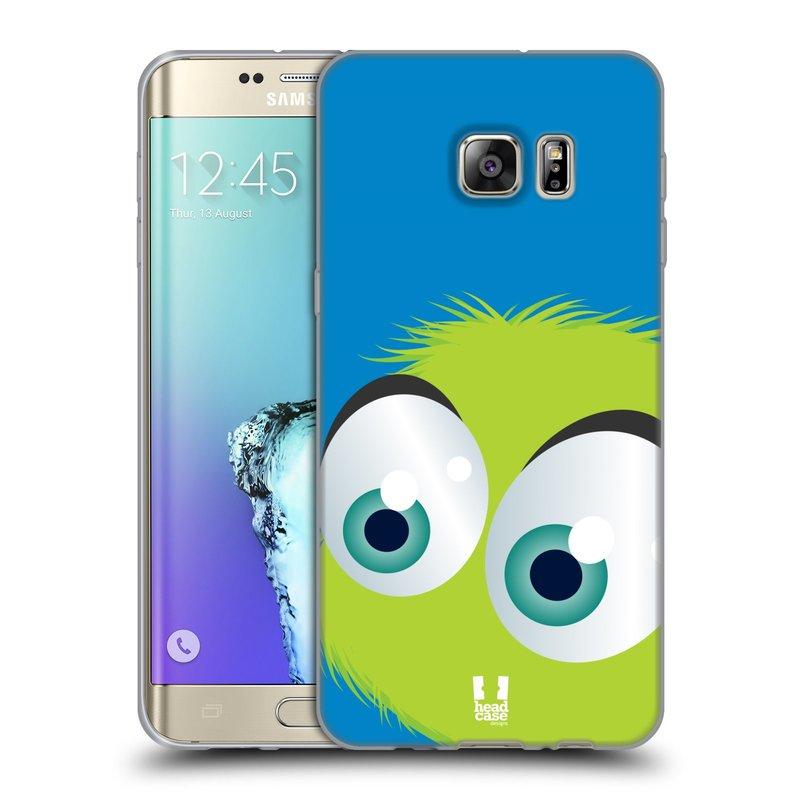 Silikonové pouzdro na mobil Samsung Galaxy S6 Edge Plus HEAD CASE FUZÍK ZELENÝ (Silikonový kryt či obal na mobilní telefon Samsung Galaxy S6 Edge Plus SM-G928F)