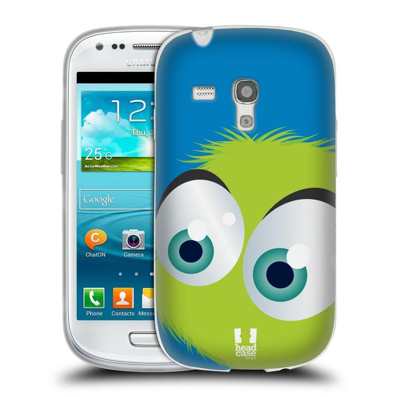 Silikonové pouzdro na mobil Samsung Galaxy S III Mini HEAD CASE FUZÍK ZELENÝ (Silikonový kryt či obal na mobilní telefon Samsung Galaxy S III Mini GT-i8190)
