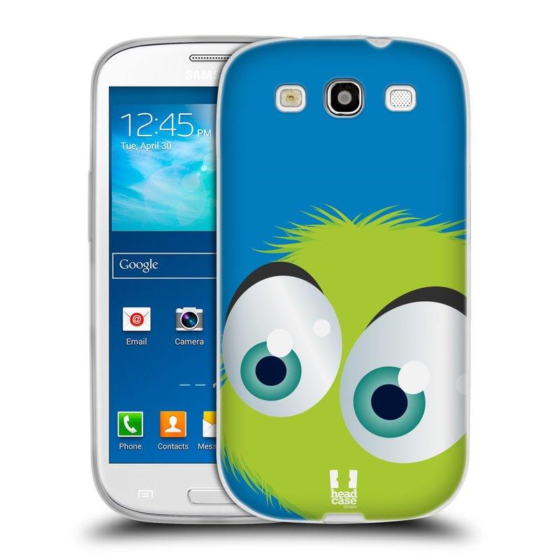 Silikonové pouzdro na mobil Samsung Galaxy S III HEAD CASE FUZÍK ZELENÝ (Silikonový kryt či obal na mobilní telefon Samsung Galaxy S III GT-i9300)