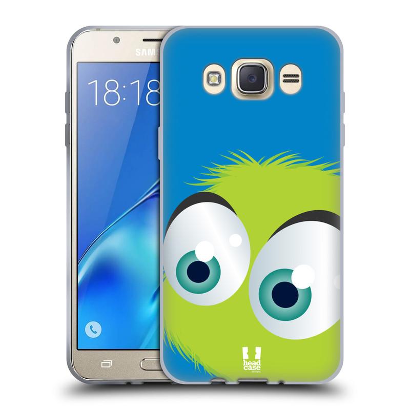 Silikonové pouzdro na mobil Samsung Galaxy J7 (2016) HEAD CASE FUZÍK ZELENÝ (Silikonový kryt či obal na mobilní telefon Samsung Galaxy J7 (2016) SM-J710)