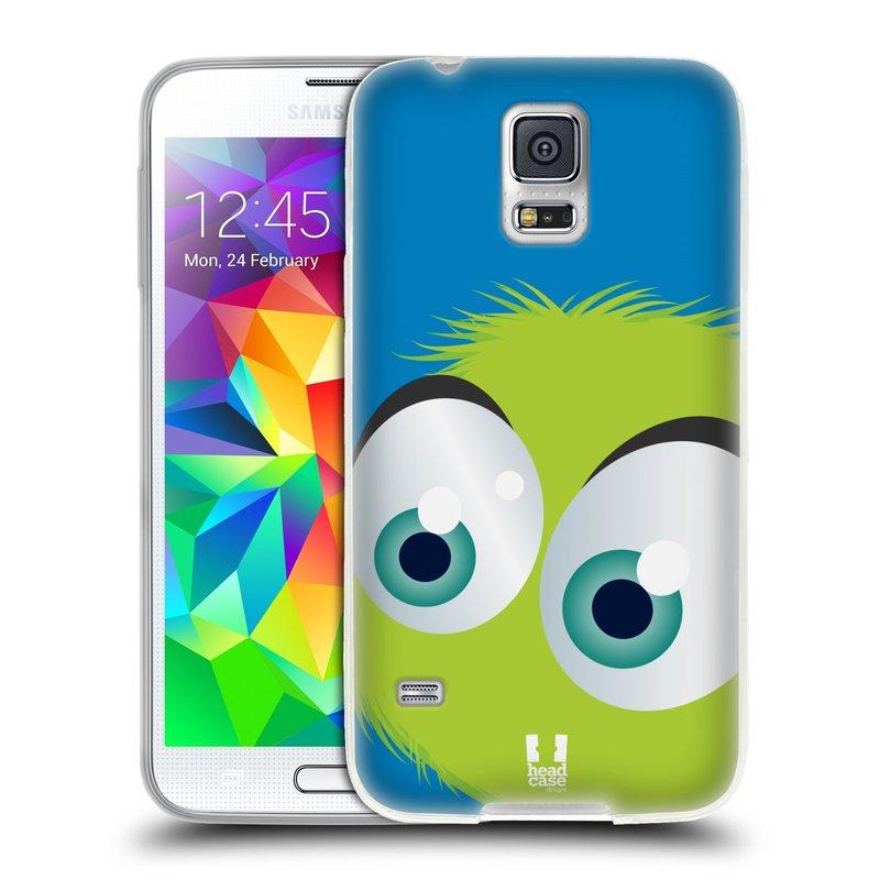 Silikonové pouzdro na mobil Samsung Galaxy S5 HEAD CASE FUZÍK ZELENÝ (Silikonový kryt či obal na mobilní telefon Samsung Galaxy S5 SM-G900F)