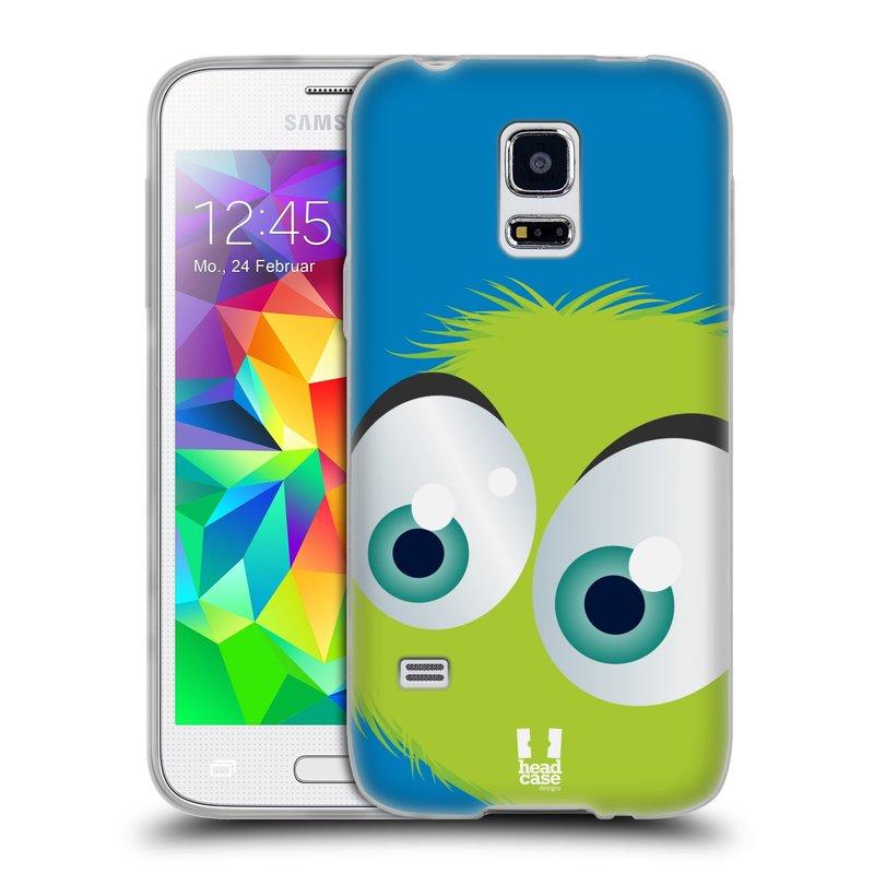 Silikonové pouzdro na mobil Samsung Galaxy S5 Mini HEAD CASE FUZÍK ZELENÝ (Silikonový kryt či obal na mobilní telefon Samsung Galaxy S5 Mini SM-G800F)