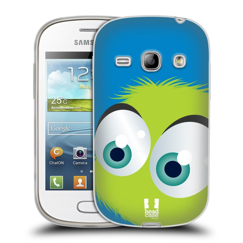Silikonové pouzdro na mobil Samsung Galaxy Fame HEAD CASE FUZÍK ZELENÝ (Silikonový kryt či obal na mobilní telefon Samsung Galaxy Fame GT-S6810)