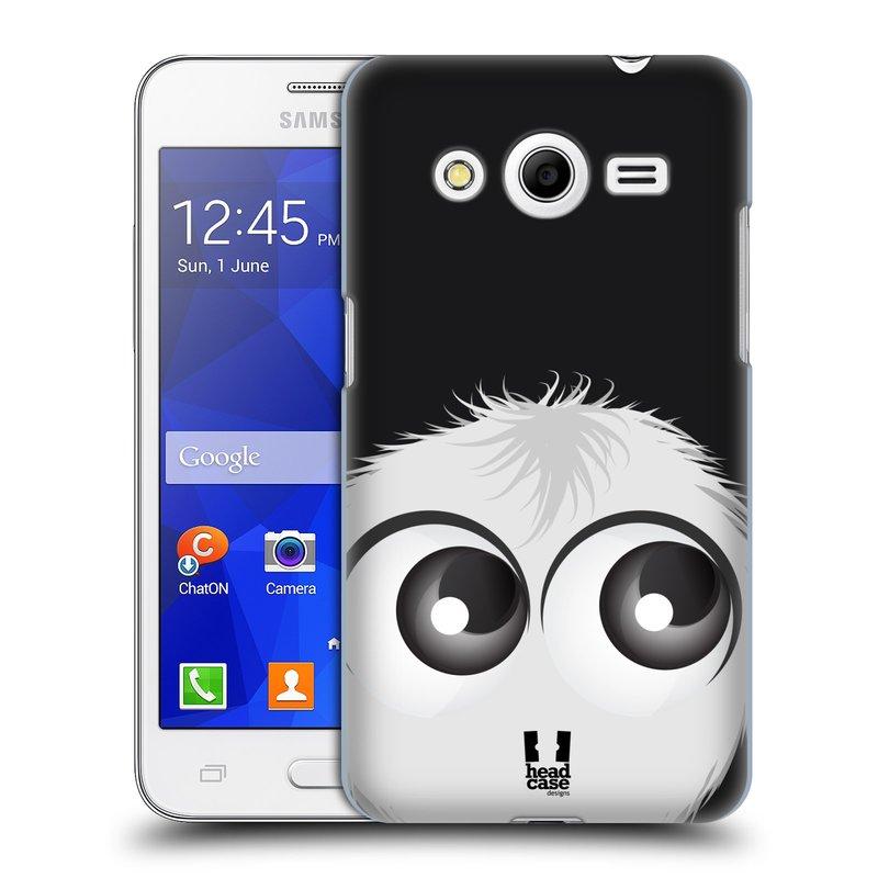Plastové pouzdro na mobil Samsung Galaxy Core 2 HEAD CASE FUZÍK BÍLÝ (Kryt či obal na mobilní telefon Samsung Galaxy Core 2 SM-G355H)