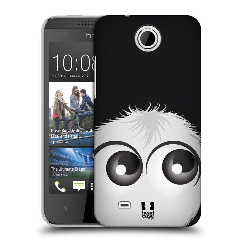 Plastové pouzdro na mobil HTC Desire 300 HEAD CASE FUZÍK BÍLÝ (Kryt či obal na mobilní telefon HTC Desire 300)