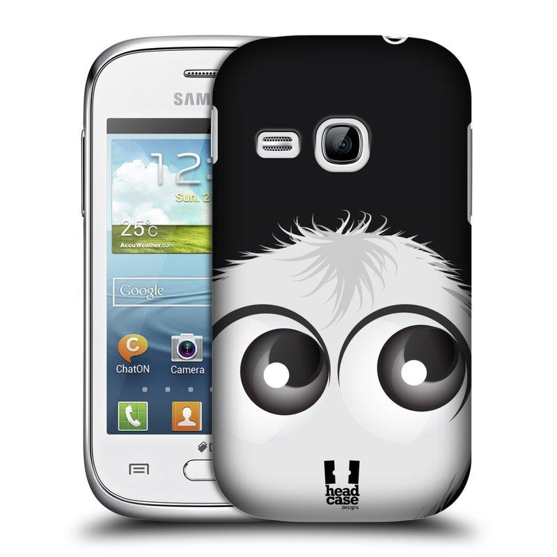 Plastové pouzdro na mobil Samsung Galaxy Young HEAD CASE FUZÍK BÍLÝ (Kryt či obal na mobilní telefon Samsung Galaxy Young GT-S6310)