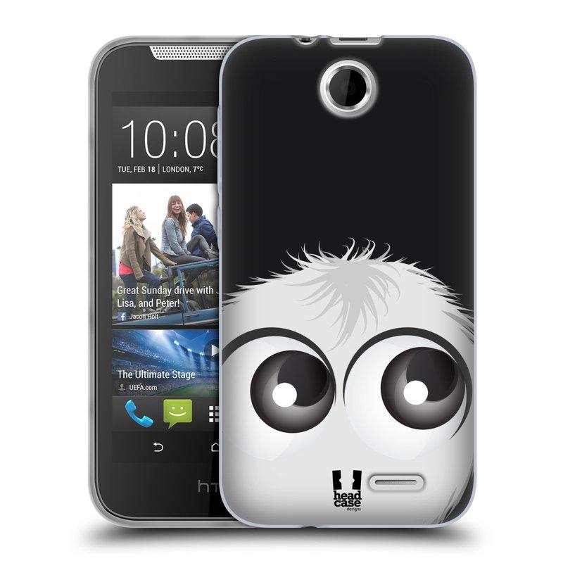 Silikonové pouzdro na mobil HTC Desire 310 HEAD CASE FUZÍK BÍLÝ (Silikonový kryt či obal na mobilní telefon HTC Desire 310)