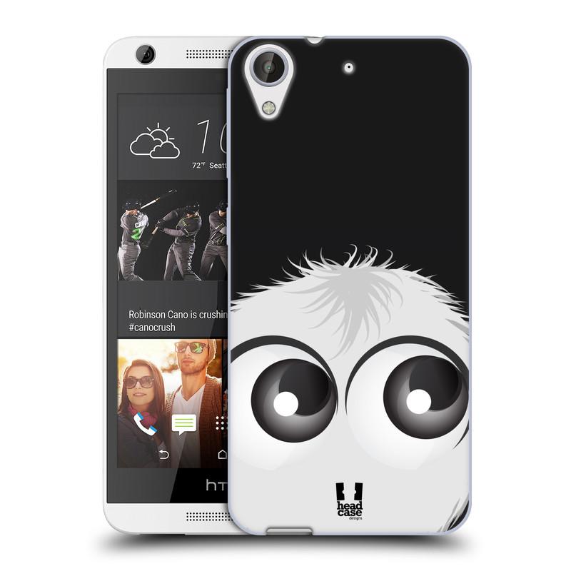 Silikonové pouzdro na mobil HTC Desire 626 / 626G HEAD CASE FUZÍK BÍLÝ (Silikonový kryt či obal na mobilní telefon HTC Desire 626 a 626G Dual SIM)