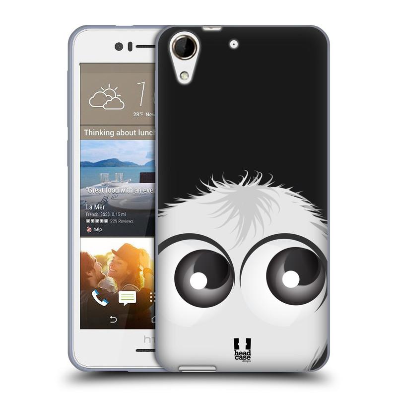 Silikonové pouzdro na mobil HTC Desire 728G Dual SIM HEAD CASE FUZÍK BÍLÝ (Silikonový kryt či obal na mobilní telefon HTC Desire 728 G Dual SIM)