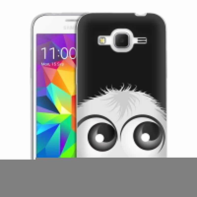 Silikonové pouzdro na mobil Samsung Galaxy Core Prime LTE HEAD CASE FUZÍK BÍLÝ (Silikonový kryt či obal na mobilní telefon Samsung Galaxy Core Prime LTE SM-G360)