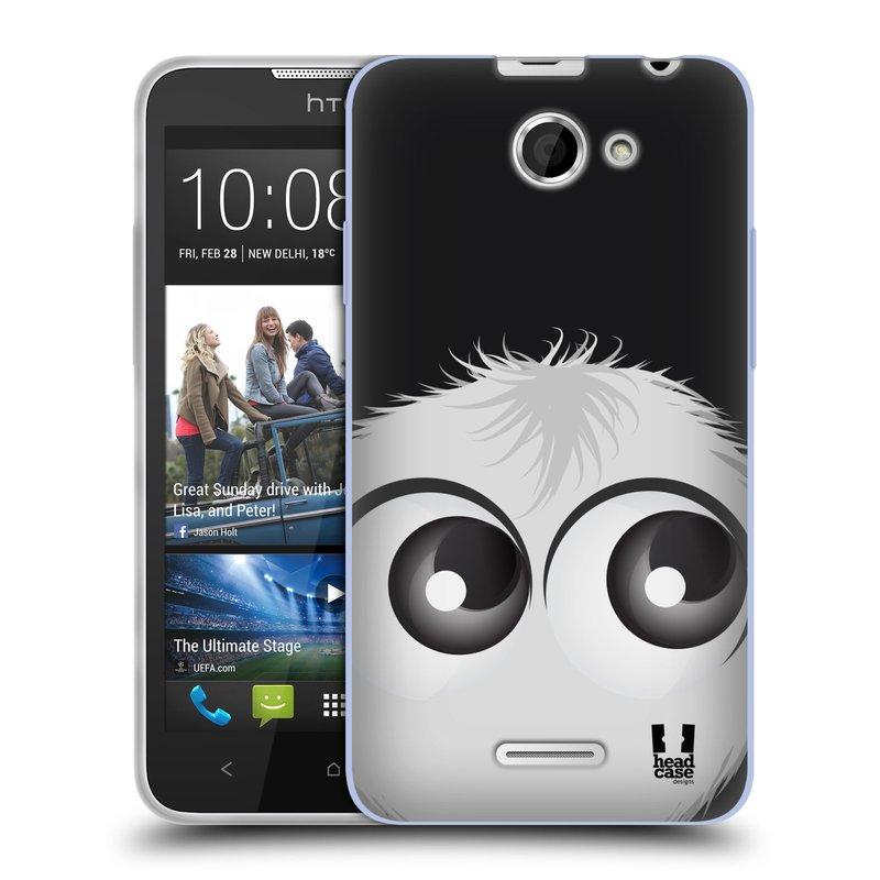 Silikonové pouzdro na mobil HTC Desire 516 HEAD CASE FUZÍK BÍLÝ (Silikonový kryt či obal na mobilní telefon HTC Desire 516 Dual SIM)