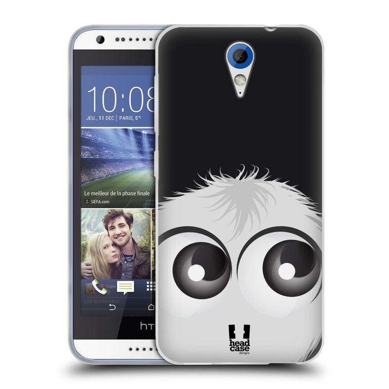 Silikonové pouzdro na mobil HTC Desire 620 HEAD CASE FUZÍK BÍLÝ (Silikonový kryt či obal na mobilní telefon HTC Desire 620)