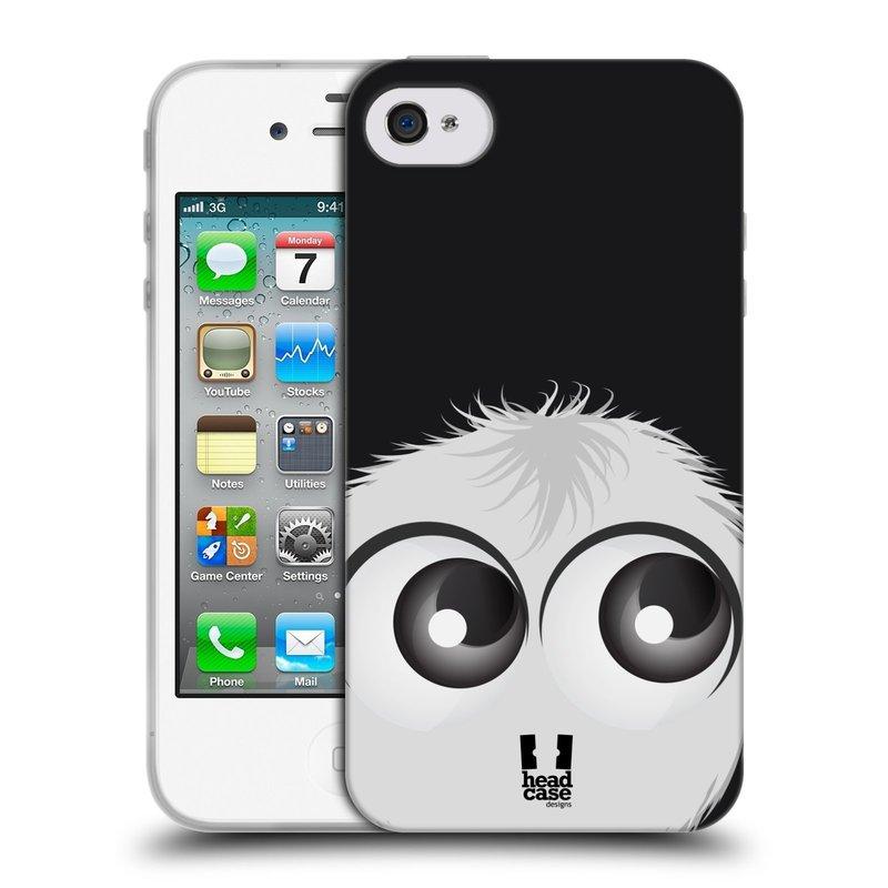 Silikonové pouzdro na mobil Apple iPhone 4 a 4S HEAD CASE FUZÍK BÍLÝ (Silikonový kryt či obal na mobilní telefon Apple iPhone 4 a 4S)