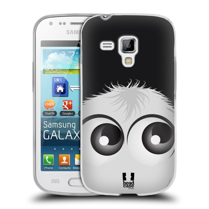 Silikonové pouzdro na mobil Samsung Galaxy S Duos HEAD CASE FUZÍK BÍLÝ (Silikonový kryt či obal na mobilní telefon Samsung Galaxy S Duos GT-S7562)