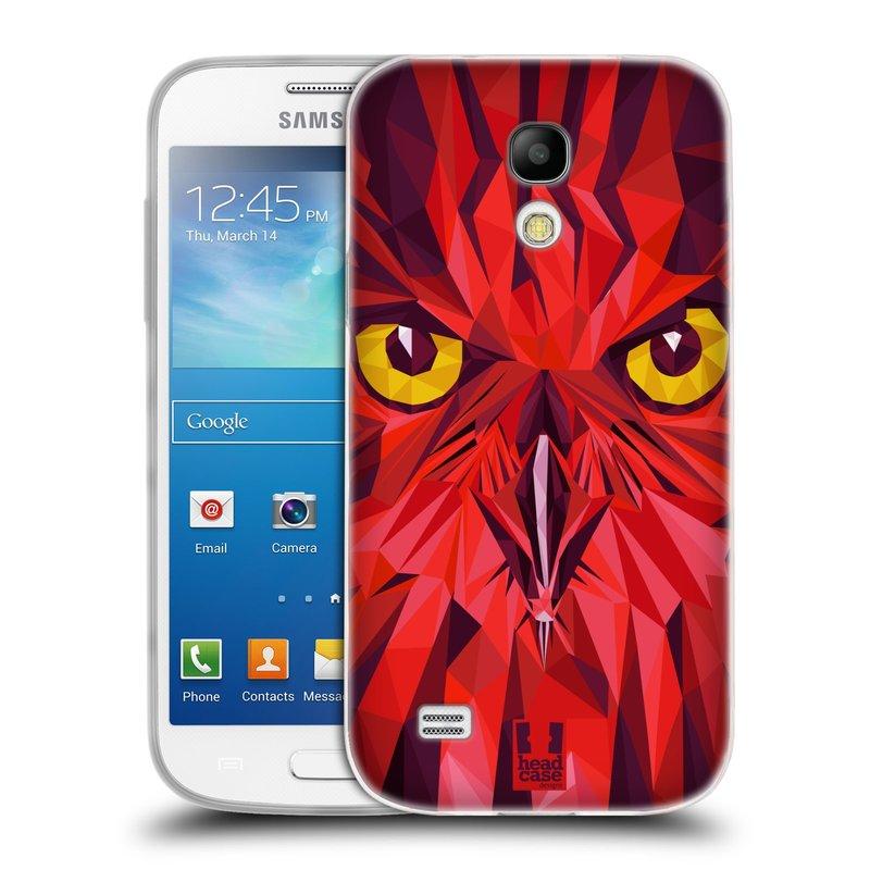 Silikonové pouzdro na mobil Samsung Galaxy S4 Mini VE HEAD CASE GEOMETRIC SOVA (Silikonový kryt či obal na mobilní telefon Samsung Galaxy S4 Mini VE GT-i9195i (nepasuje na verzi Black Edition))
