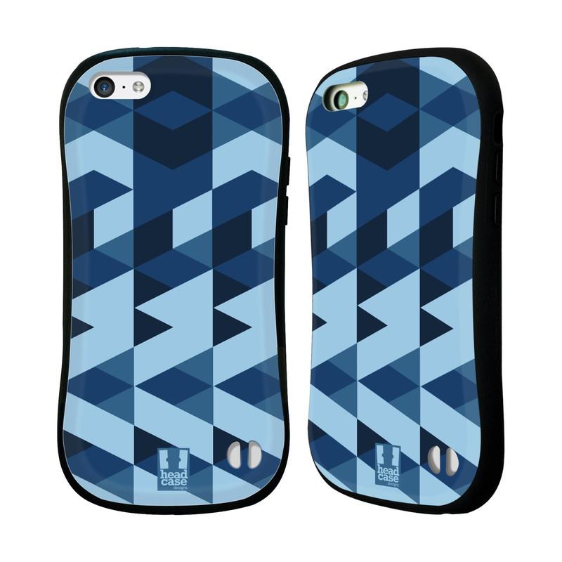 Nárazuvzdorné pouzdro na mobil Apple iPhone 5C HEAD CASE GEOMETRIC BLUE (Odolný nárazuvzdorný silikonový kryt či obal na mobilní telefon Apple iPhone 5C)