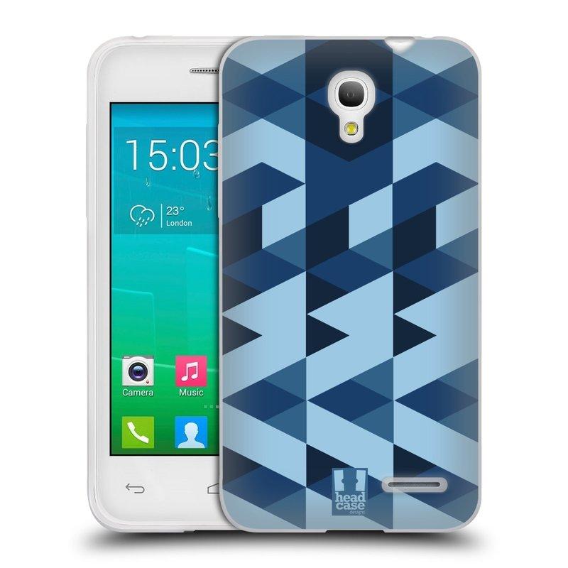 Silikonové pouzdro na mobil Alcatel One Touch Pop S3 HEAD CASE GEOMETRIC BLUE (Silikonový kryt či obal na mobilní telefon Alcatel OT- 5050Y POP S3)