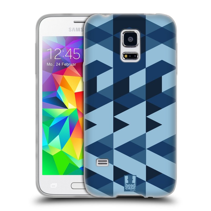 Silikonové pouzdro na mobil Samsung Galaxy S5 Mini HEAD CASE GEOMETRIC BLUE (Silikonový kryt či obal na mobilní telefon Samsung Galaxy S5 Mini SM-G800F)