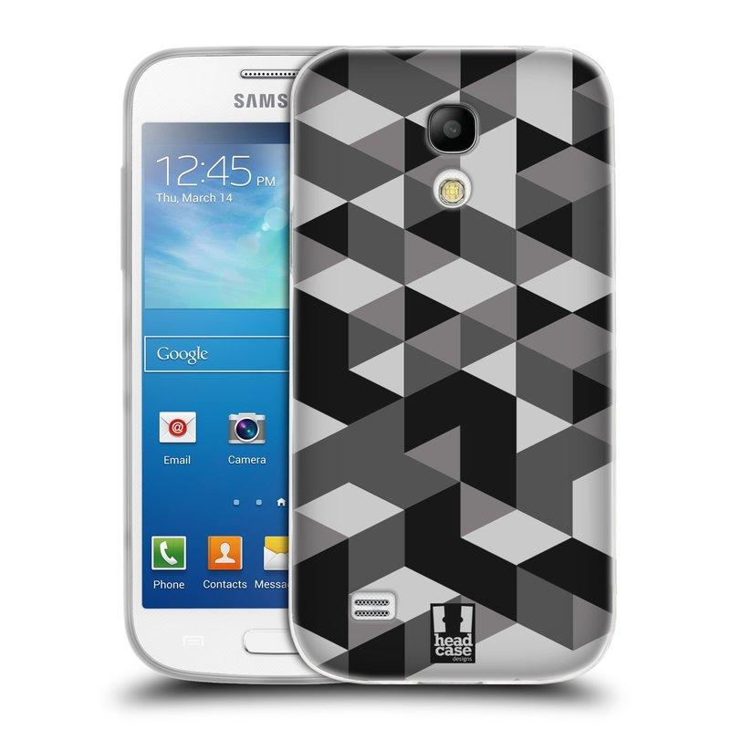 Silikonové pouzdro na mobil Samsung Galaxy S4 Mini VE HEAD CASE GEOMETRIC GRAY (Silikonový kryt či obal na mobilní telefon Samsung Galaxy S4 Mini VE GT-i9195i (nepasuje na verzi Black Edition))
