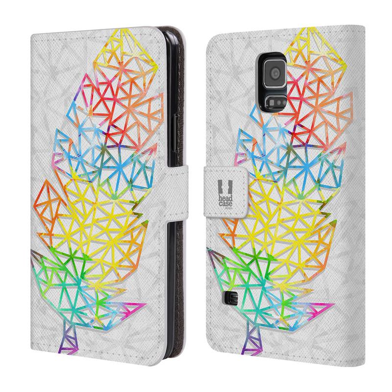 Flipové pouzdro na mobil Samsung Galaxy S5 HEAD CASE PÍRKA SINGLE (Flipový vyklápěcí kryt či obal z umělé kůže na mobilní telefon Samsung Galaxy S5 SM-G900)