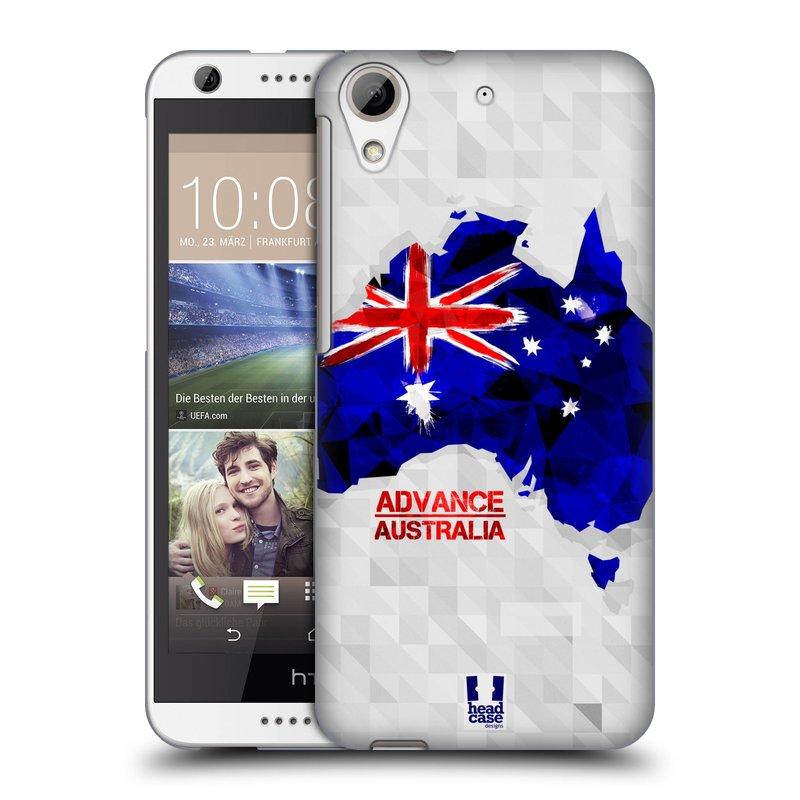 Plastové pouzdro na mobil HTC Desire 626 / 626G HEAD CASE GEOMAPA AUSTRÁLIE (Kryt či obal na mobilní telefon HTC Desire 626G Dual SIM a HTC Desire 626)
