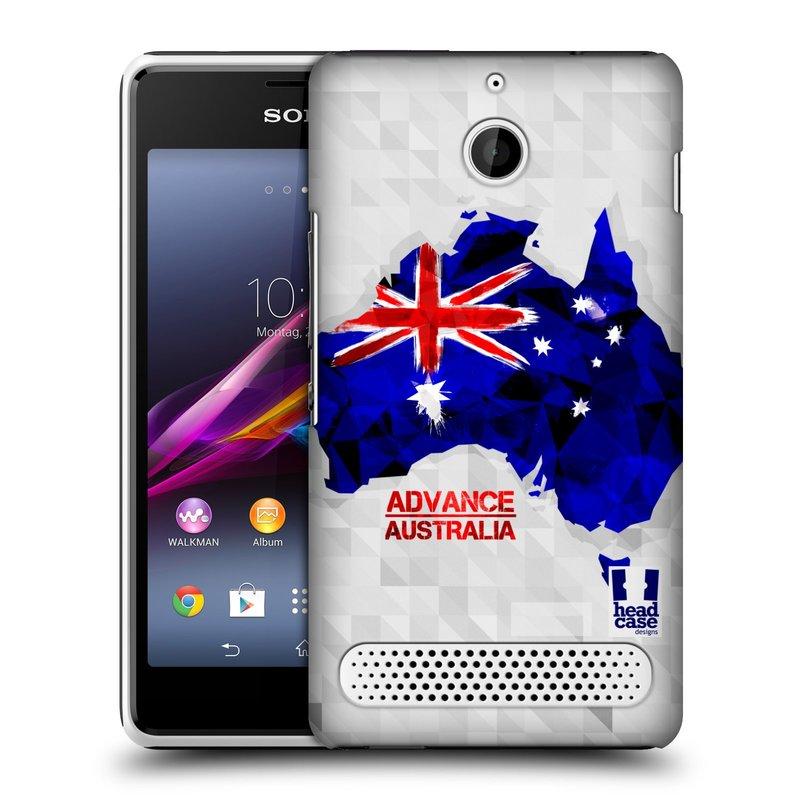 Plastové pouzdro na mobil Sony Xperia E1 D2005 HEAD CASE GEOMAPA AUSTRÁLIE (Kryt či obal na mobilní telefon Sony Xperia E1 a E1 Dual )