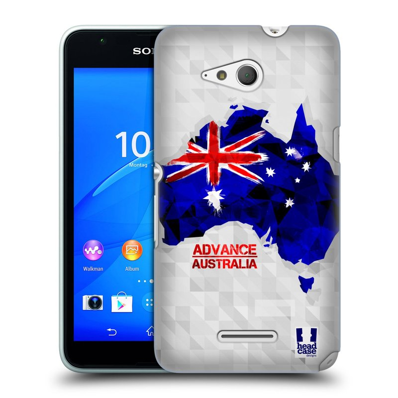 Plastové pouzdro na mobil Sony Xperia E4g E2003 HEAD CASE GEOMAPA AUSTRÁLIE (Kryt či obal na mobilní telefon Sony Xperia E4g a E4g Dual SIM)