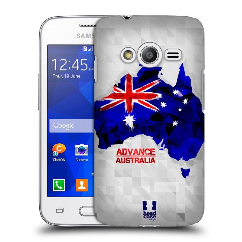 Plastové pouzdro na mobil Samsung Galaxy Trend 2 Lite HEAD CASE GEOMAPA AUSTRÁLIE (Kryt či obal na mobilní telefon Samsung Galaxy Trend 2 Lite SM-G318)