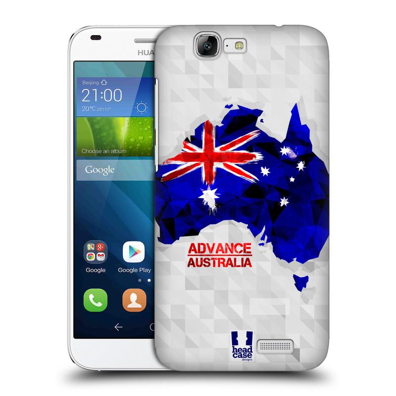 Plastové pouzdro na mobil Huawei Ascend G7 HEAD CASE GEOMAPA AUSTRÁLIE (Kryt či obal na mobilní telefon Huawei Ascend G7)