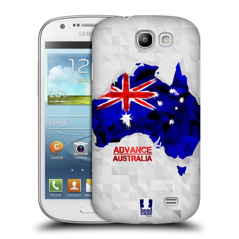 Plastové pouzdro na mobil Samsung Galaxy Express HEAD CASE GEOMAPA AUSTRÁLIE (Kryt či obal na mobilní telefon Samsung Galaxy Express GT-i8730)