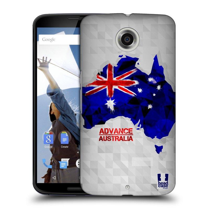Plastové pouzdro na mobil Motorola Nexus 6 HEAD CASE GEOMAPA AUSTRÁLIE (Kryt či obal na mobilní telefon Motorola Nexus 6)