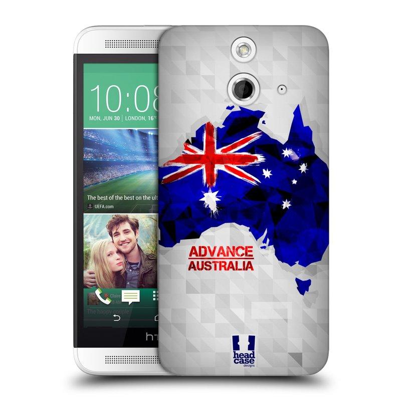 Plastové pouzdro na mobil HTC ONE E8 HEAD CASE GEOMAPA AUSTRÁLIE (Kryt či obal na mobilní telefon HTC ONE E8)