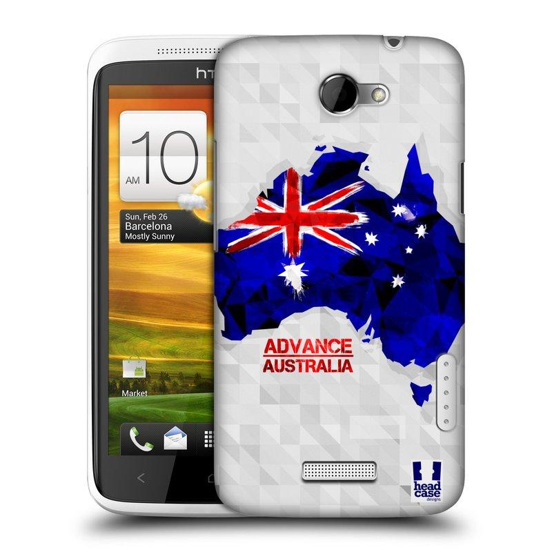 Plastové pouzdro na mobil HTC ONE X HEAD CASE GEOMAPA AUSTRÁLIE (Kryt či obal na mobilní telefon HTC ONE X)