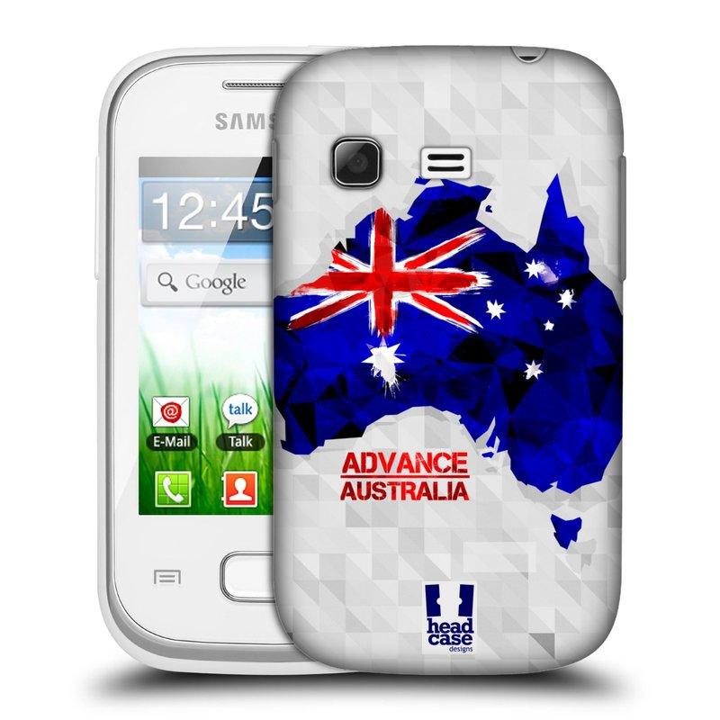 Plastové pouzdro na mobil Samsung Galaxy Pocket HEAD CASE GEOMAPA AUSTRÁLIE (Kryt či obal na mobilní telefon Samsung Galaxy Pocket GT-S5300)