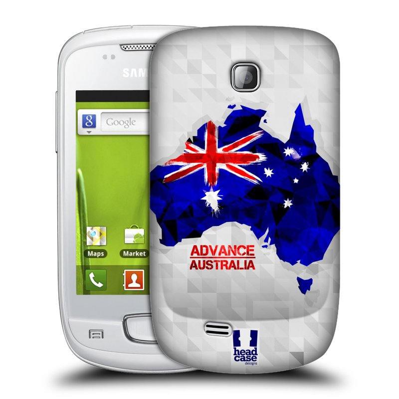 Plastové pouzdro na mobil Samsung Galaxy Mini HEAD CASE GEOMAPA AUSTRÁLIE (Kryt či obal na mobilní telefon Samsung Galaxy Mini GT-S5570 / GT-S5570i)